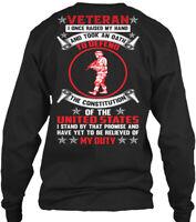 Usa Veteran - I Once Raised My Hand And Took An Gildan Long Sleeve Tee T-Shirt