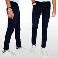 Pantaloni Uomo Chino Cotone Elastico Slim Fit Tasca Jeans Basic 5 Tasche SARANI