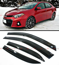 JDM WAVY 3D STYLE SMOKED WINDOW VISOR VENT SHADE FOR 2014-2018 TOYOTA COROLLA