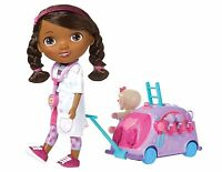 Disney Doc McStuffins Walk N Talk Doll Ages 3+ New Toy Car Lambie Doctor Mobile