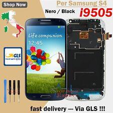 DISPLAY PER SAMSUNG GALAXY S4 I9505 LCD TOUCH SCHERMO TELAIO!  PELL VETRO! NERO