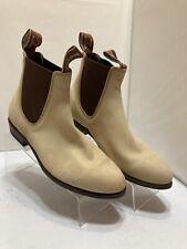RM Williams Women's Beige Suede Slip On Boots Size AUS 7 D ~ US 7 B ~ EUR 37