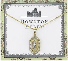 Downton Abbey Collection Gold Tone Crystal Art Deco Pendant Necklace 17877