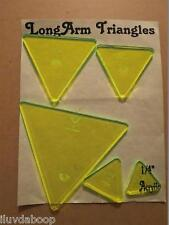 """QUILTING 60 Degree Finished Lot 5 Triangle Templates 1/8"""" Woodworking Pattern"""