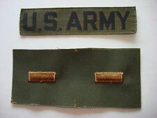 Pocket Tape U.S. ARMY + Pair Of 2nd LIEUTENANT Uncut Collar Patches