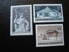 AUTRICHE - timbre - yvert et tellier n° 937 940 941 n** - stamp austria (A3)