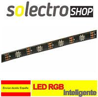 Tira WS2812B 1m 30LED/m IP65 Led RGB Direccionable Inteligente Arduino P0101