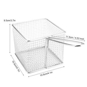 Stainless Steel Chip Basket Fry Basket Durable Sillver for Fast Food Shop Home