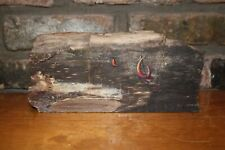 A Kelly Pruitt, 1969, paint on petrified wood, Memory of WWII Fishing Sloops