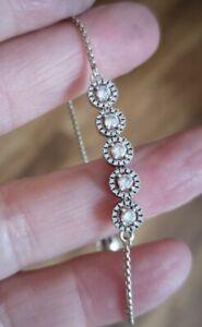 PANDORA  ALE Sterling Silver  Round Sparkling Slider Bracelet