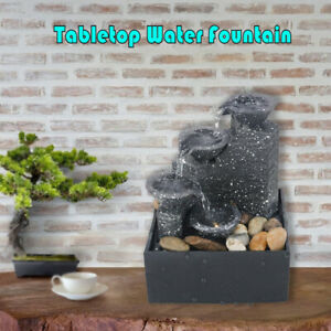 USB Desktop Water Fountain Waterfal Feng Shui Meditation for Indoor Home Office