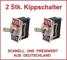 2x Kippschalter 12V 24V Auto 230V 220V Volt 10 A Amper  KFZ LKW Boot Schalter