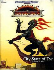 DSS1 CITY-STATE OF TYR w/MAP EXC+! Dark Sun Dungeons Dragons Guide TSR AD&D D&D