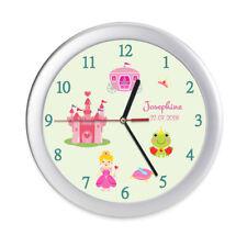 Wanduhr Kinder Prinzessin Name Geburtsdatum Frosch Kinderuhr Kinderzimmer Uhr