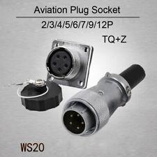 Conector De Aviación WS20 Impermeable 2P 3P 4P 5P 6P 7P 8P 9P 12P Enchufe y Zócalo
