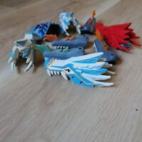LEGO PARTS - x5 DRAGON HEADS & X4 JAWS, BULK PACK NINJAGO PARTS
