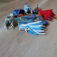 LEGO PARTS - x5 DRAGON HEADS & X4 JAWS, BULK PACK NINJAGO PARTS