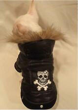 DOG COAT/DOG JACKET/DOG CLOTHES/Tough Dog Skull Dog Jacket XS,S,M,L FREE SHIP