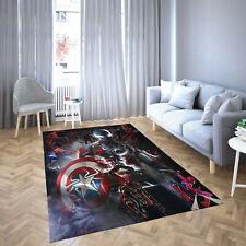 Captain America And Spiderman Carpet Living Room-Area Rug
