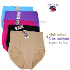 5 Pack Women Cotton Underwear Panties Briefs Size Full Cover Hipster Softer(1)
