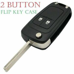 2 Button Flip Key Fob Case + Blade For Vauxhall Opel Astra Insignia + LOGO