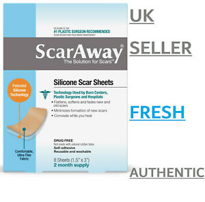 FRESH & GENUINE ScarAway Silicone Scar Sheets Treatment Acne/Surgery Scars NEW
