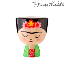 Sass & Belle Frida Kahlo Planter Flower Plant Brush Pen Pot Mexican Home Decor