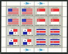 VN / UNO Vlaggenvellen 1981 postfris (Yvert 341 - 356)