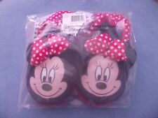 Nwt Girl'S Size 11/12 - Disney Minnie Mouse Slip-On Slippers - Polka Dots Bows