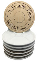 Williams-Sonoma Varages Divided Oyster Plates-Fondue-Appetizer -6, Made-France