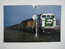 Burlington Northern SD60M #9225 Ghost Face or White Face Freight Train Postcard