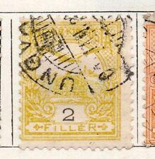 Hungría 1900 antiguo problema Fine Used 2f. 098742