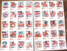 1981 CALGARY STAMPEDERS CFL COMPLETE RED ROOSTER SET (40) * 2 uncut sheets