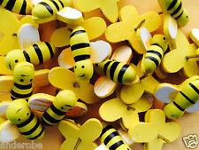 25 HONEY BEE THUMBTACKS/Thumb Tacks/Pins! L@@K! 25 RARE HANDPAINTED PINS!  NICE!