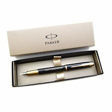 Personalised Engraved Parker IM Black Gold Trim Fountain Pen - Great Gift