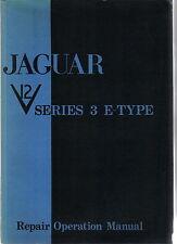 Jaguar E Type V12 Série 3 ORIGINAL Repair Manual (Workshop Manual) 1971 E165/3