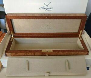 New Amazing BREGUET BIG WOOD WATCH Rare BOX CASE PATEK MARINE MONTRE CARTIER ÜHR
