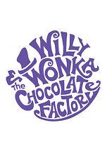"Willy Wonka ""Purple logo 2"" Typography quote Decorative Vinyl Wall Sticker"