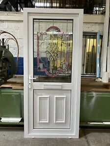 SECOND HAND UPVC DOOR REFURBISHED, White, 930mm Wide By 2125mm Height (D207)