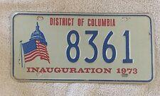 1973 INAUGURATION License Plate Vintage Richard Nixon Political Tag
