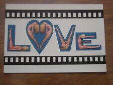 carte postale Postcard LOVE NATURISME FKK AKT nu NON ECRITE