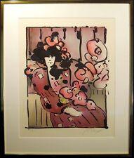 Peter Max Brown Lady With Vase SIGNED FINE ART Vintage Serigraph Make an Offer