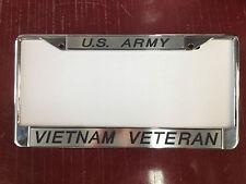 Set of 2 Custom Engraved US Army/Vietnam Veteran License Plate Frames