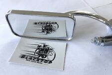 "Universal Mirror Bar End Suits 7/8"" Bar Rectangle Cafe Racer Triton EXPRESS POST"