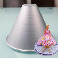 Barbie Doll Girl 's Skirt Shape Wedding Cake Mold Aluminium Metal Moldes Pan DIY