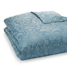 Sferra Bissero Duvet Comforter Cover Cotton KING Jacquard Cadet Blue Italy NWT