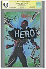 Amazing Spider-Man 49 CGC 9.8 SS Horn Virgin Variant Hero Sketch Bendis Superman