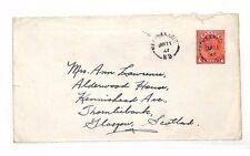 AC184 1947 *CANADA* Postal Stationery Glasgow Scotland {Samwells-Covers}PTS