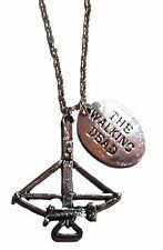 "Walking Dead Darryl Dixon Cross Bow Necklace with 20"" Chain"