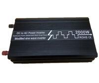 2000W Solar Power Inverter Modified Sine Wave Converter 12V/24V to 120V/230V USB
